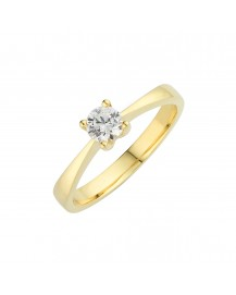Petite Solitaire Engagement Ring BK-001