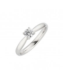 Classic Tapered Four Claw Solitaire Engagement Ring BK-002