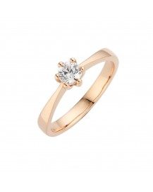 Knife Edge Six Claw Solitaire Engagement Ring BK-005